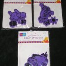 3 Pooh Decorator Rubber Stamp Sets Winnie The Pooh, Tigger & Eeyore 9 Rubber Stamps All Night Media