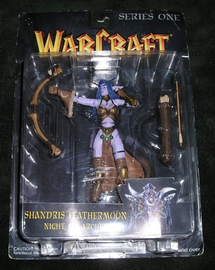 Rare Collectible Warcraft Figure Shandris Feathermoon Night Elf Archer Series One On Card