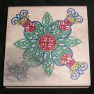 Rubber Stamp Mounted On Wood Large Celtic Pattern By Stampers Anonymous