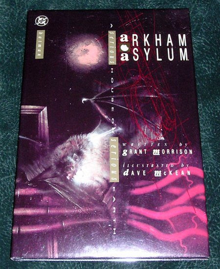 Batman Arkham Asylum Hardcover Book With Dust Jacket DC Comics Graphic Novel 1989