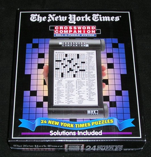 The New York Times Crossword Companion Roll-A-Puzzle System Herbko Sealed