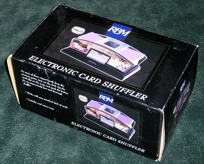 Electronic Card Shuffler World Poker Series By Excalibur