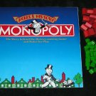 Monopoly Deluxe Edition 1985 Rules & History Booklet With Wood Hotels & Houses