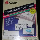 Laminated White Laser & Ink Jet Rotary Cards Sealed Box By Avery