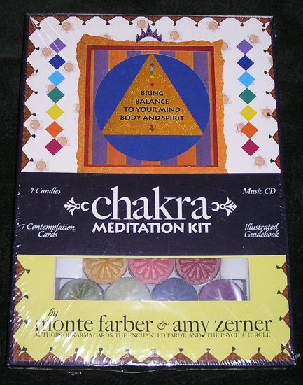 Chakra Meditation Kit Sealed CD, Candles & Cards By Monte Farber & Amy Zerner