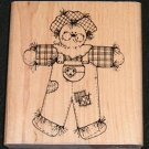 Rubber Stamp Mounted On Wood Chester Scarecrow By D.O.T.S. R123