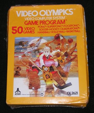 Collectible Vintage Video Olympics Game Cartridge CX2621 For Atari 2600 Still Shrink Wrapped