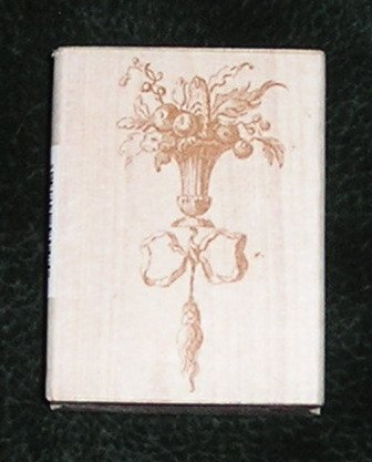 Rubber Stamp Mounted On Wood Urn Of Fruit By All Night Media 580H05