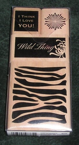 Wild Things Rubber Stamp Set Mounted On Wood By All Night Media Boutique