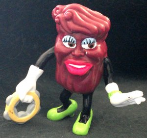 Rare Califonia Raisin PVC Figure Ms. Marvelous With Tambourine By Applause