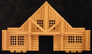 ERTL Farm Country Longhorn Ranch Log House Front Or Back Cabin Replacement Part