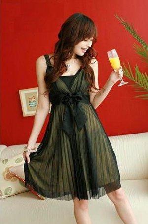 CM - 007 Elegent Chiffon Cocktail Dress-Yellow