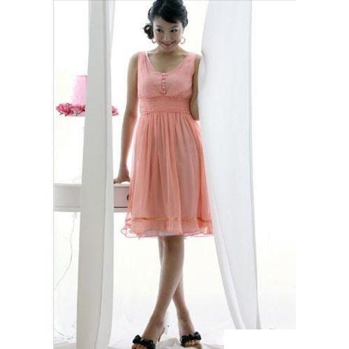 Hot sale - Elegant and Charming Chiffon Dress - Pink