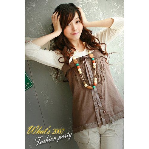 CM - 0545 Fairy lady  SleevelessTop - Coffee
