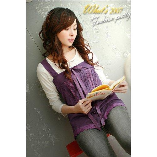 CM - 0545 Fairy lady Sleeveless Top - Purple