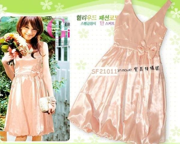 Hot Sale - ED-2017 Korean shimmer dress - Apricot