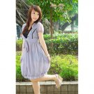 CM0362 Delicious Chiffon Balloon Dress - Gray