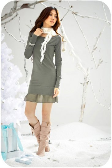YC1782 - Beautiful Evening Dress - Grey