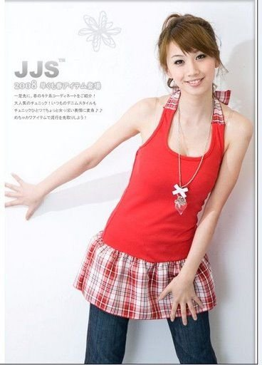 YC3100 Sweet Checker Tank Top - Red
