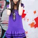 R26-021 Sweet Layer Girl Dress- Purple