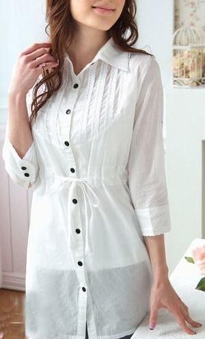 EYC2061 Cotton Shirt - White