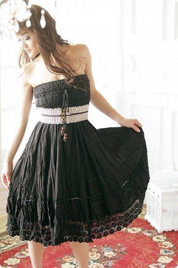 EYC2158 2 way wear skirt ( can wear as tube dress)- Black