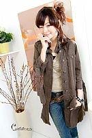 R52-025b Long Cotton Jacket - Brown