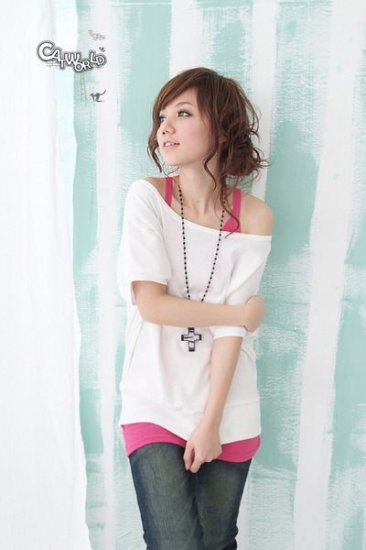 R12-515 - Off Shoulder Comfortable Top - White