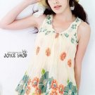 A2QH3505 Flowery Summer Top
