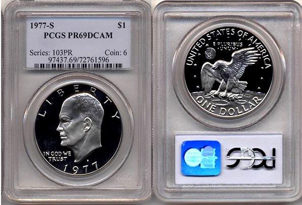 1977-S Proof Eisenhower Dollar PCGS PR69DCAM * FREE SHIPPING *
