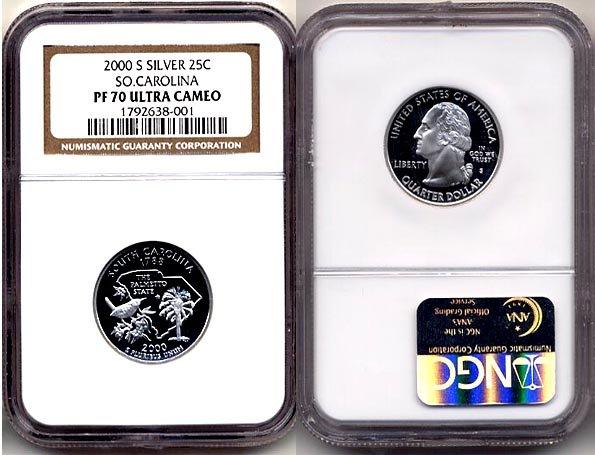 Silver 2000-s SO, CAROLINA 25ct * NGC PF 70 UCAM OO1 FREE SHIPPING