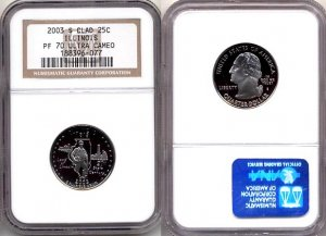 2003 S Clad Illinois State 25ct * NGC PF 70 UCAM * 70 FREE SHIPPING