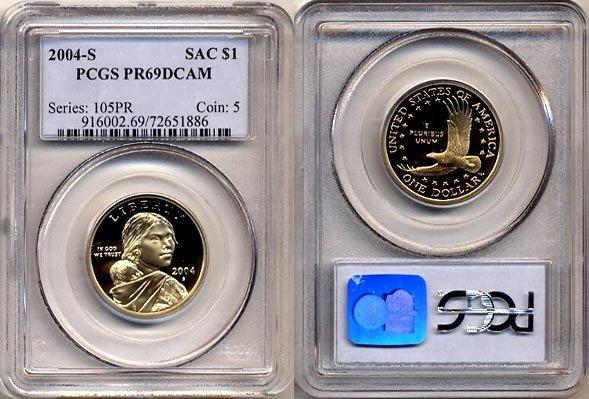 2004-S Sacagawea Golden Dollar PCGS PR69DCAM FREE SHIPPING