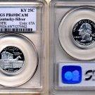 Silver PQ 2001-S Kentucky 25ct PCGS PR69 DEEP CAMEO * FREE SHIPPING