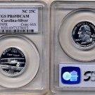 PCGS PR69DCAM 2001-S SILVER North Carolina State Quarter * Free Shipping *