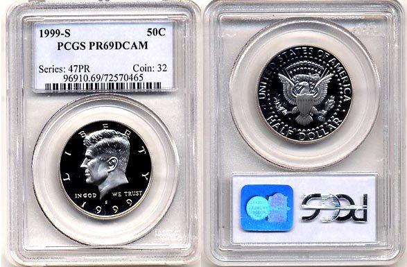 1999-S Kennedy Half Dollar PCGS PR69DCAM * Free Shipping *