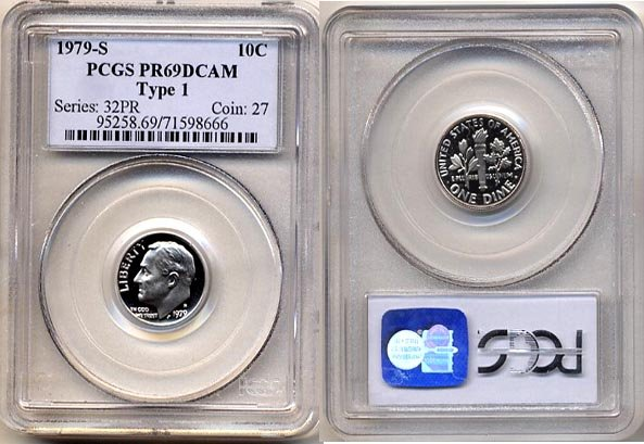 1979-S Type 1 Proof Roosevelt Dime PCGS PR69DCAM * FREE SHIPPING *