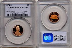 1978-S Lincoln Cent * PCGS PR69DCAM RED* FREE SHIPPING *