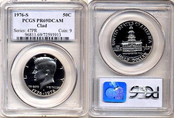 1976 S Bicentennial Kennedy Half Dollar PCGS PR69DCAM * FREE SHIPPING *