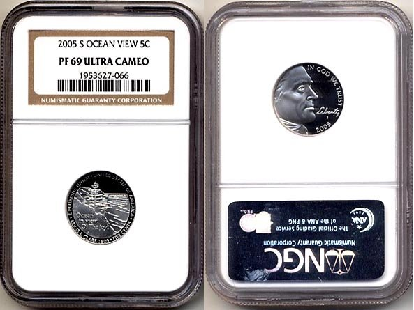 2005-S OCEAN VIEW Nickel * NGC PF 69 ULTRA CAMEO * FREE SHIPPING *