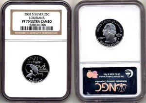 2002-s Silver Louisiana State Quarter NGC PF 70 Ultra Cameo * FREE SHIPPING *