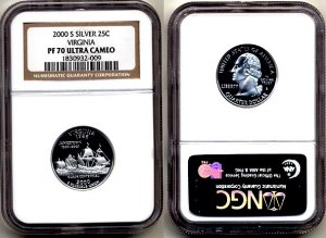2000-s Silver Virginia State Quarter NGC PF 70 Ultra Cameo * FREE SHIPPING *