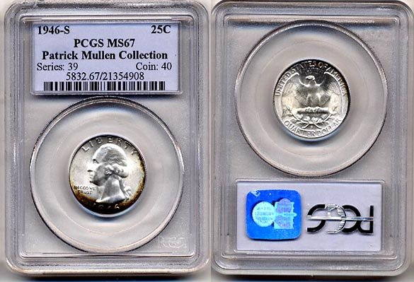 1946-S Washington Quarter * * * PCGS MS67 * * * Free Shipping