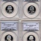 1979 and 1981 Washington 25ct TYPE 1 & 2 Set (4 coins)