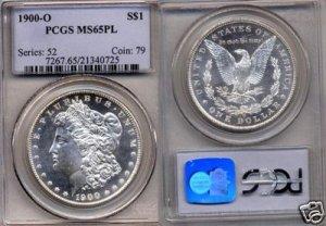1900-0 Morgan Dollar PCGS MS 65PL (RARE)