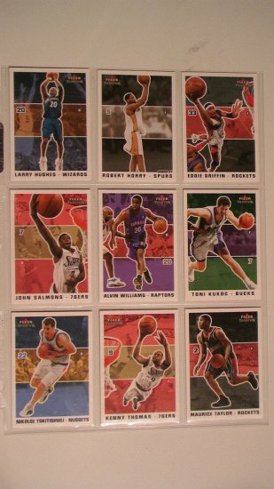 2003 FLEER TRADITION BASKETBALL CARDS - LOT OF 9
