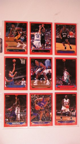 1999 TOPPS BASKETBALL CARDS - LOT OF 9