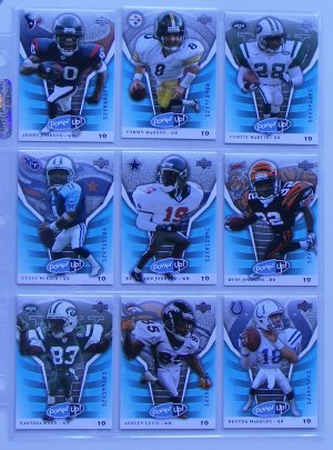 LOT OF 9 - 2004 UPPER DECK POWER UP!  FOOTBALL CARDS