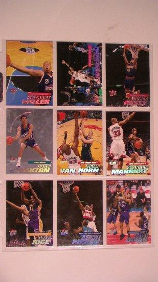 2000-01 FLEER ULTRA BASKET BALL CARDS - LOT OF 9