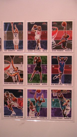 2003 - 04 FLEER TRADITION BASKETBALL CARDS - LOT OF 9